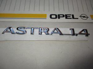 Schrift ASTRA 1.4  Astra F  1 77 043