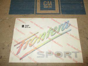 Schrift Frontera Sport Frontera A 1 71 358
